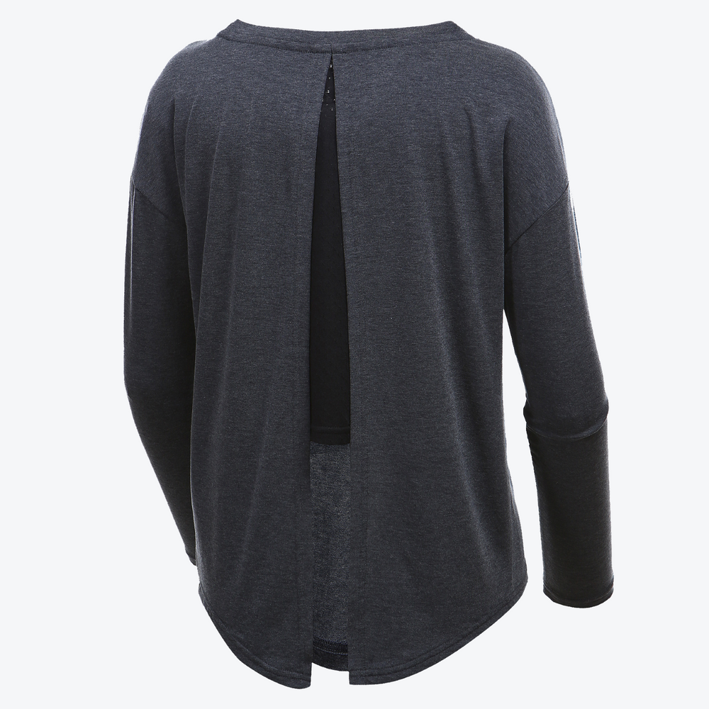 Open Back Tie Long Sleeve T-Shirt