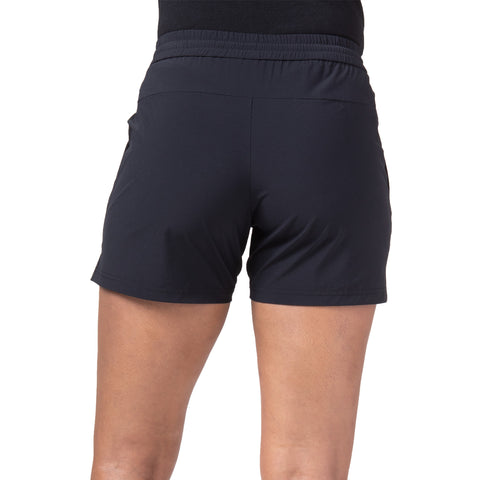 "{""color"":""Black"",""alt"":""Women's Performance 3D Running Shorts shown on model from the back in black""}"