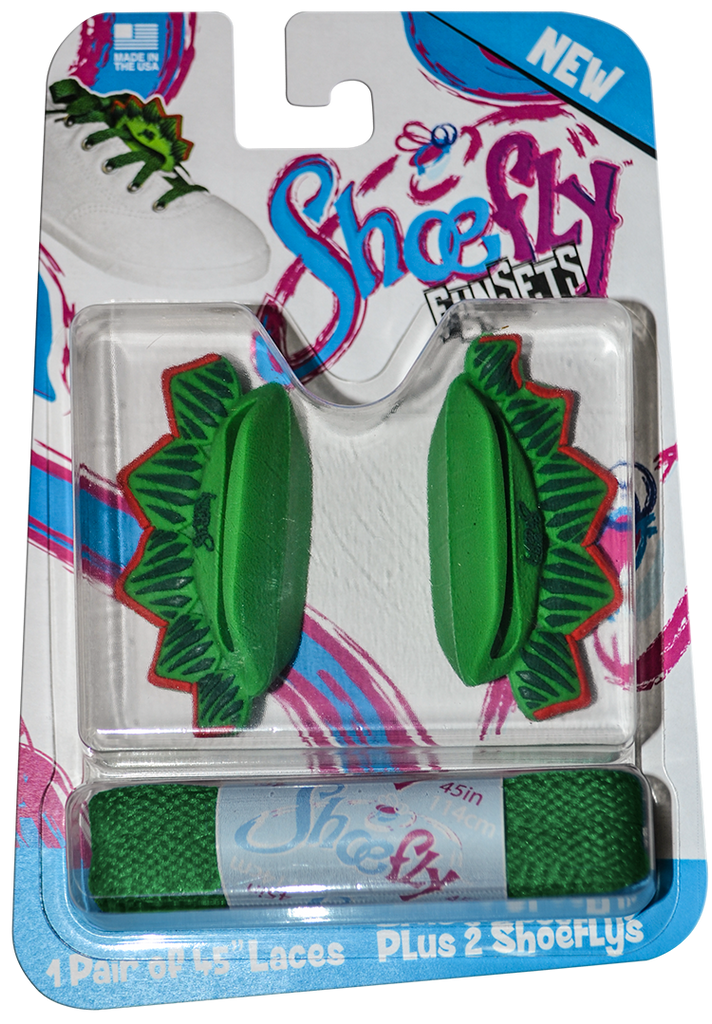 ShoeFly™ Funsets™ | Stegosaurus Dino | Green Lace