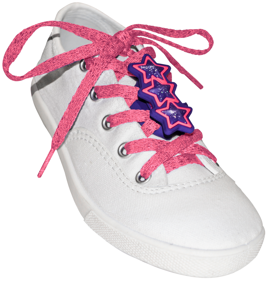 ShoeFly™ Funsets™ | Sparkle Stars | Hot Pink Lace