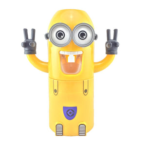 Automatic Toothpaste Dispenser Minions Toothbrush Holder