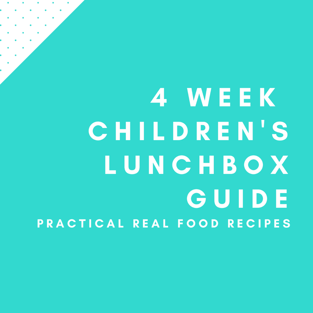 4 Week Children's Lunchbox Guide eBook