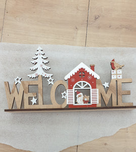 Wooden table ornament (Welcome)