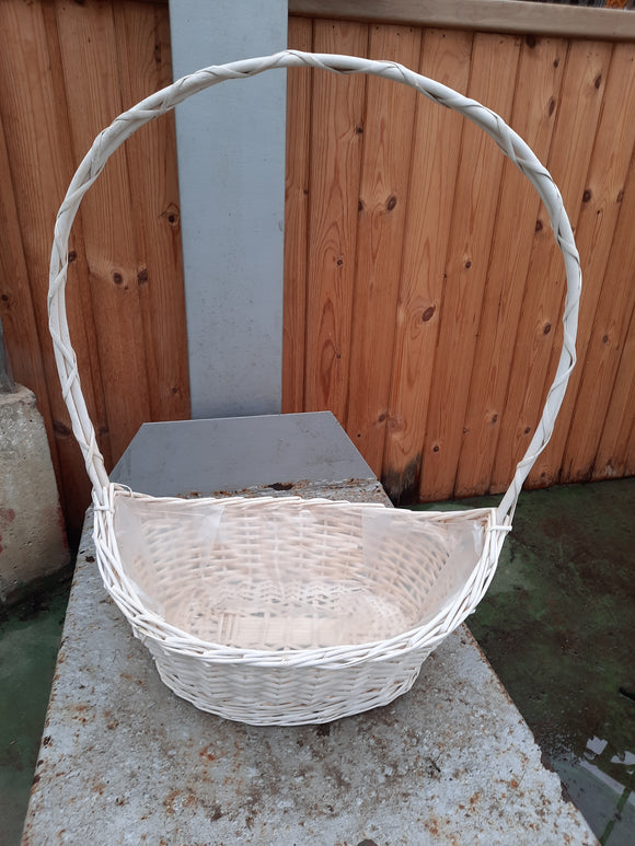 Basket-white and weaved
