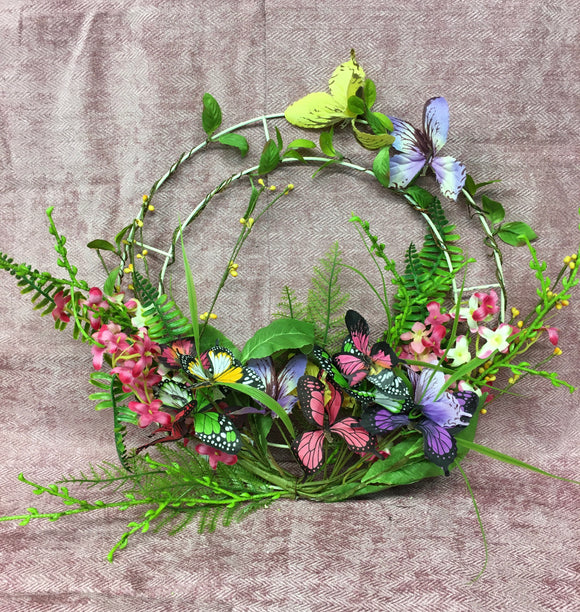 Butterfly Whimsy Wreath 45cm