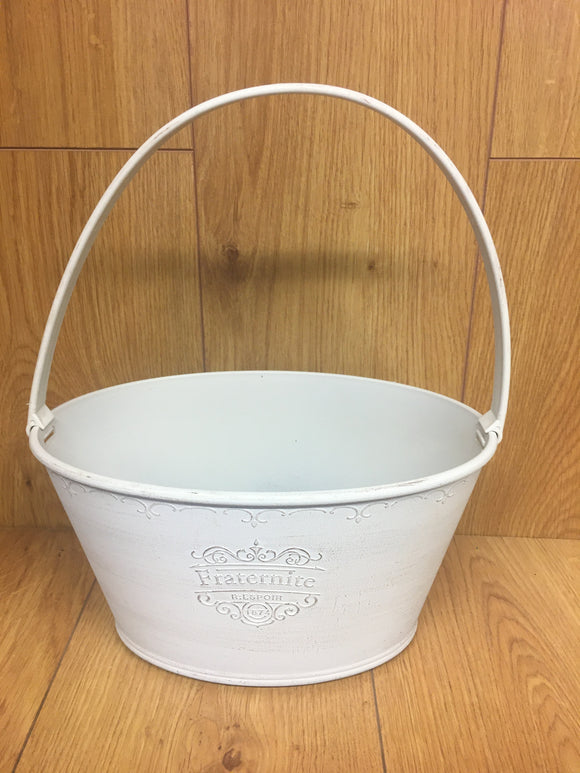 Bucket Plastic- Fraternite (White)