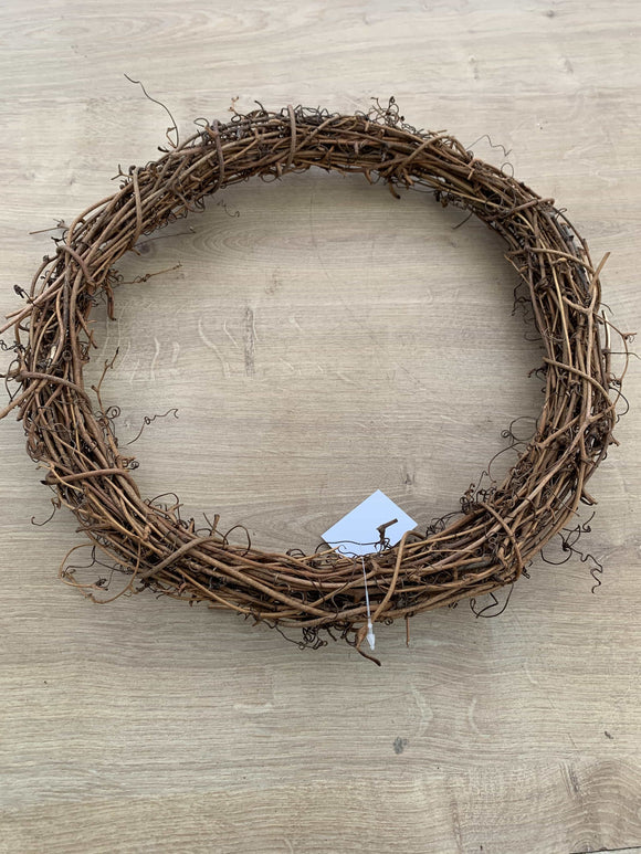 Round Natural Vine Wreath