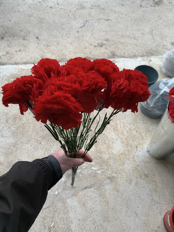 Red Artificial Carnations