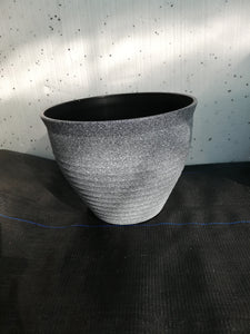 Grey speckled pot