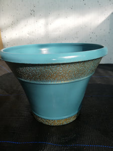Turquoise / gold pot