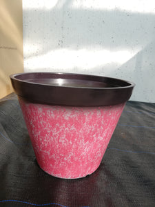 Pot Plastic Pink Marble effect
