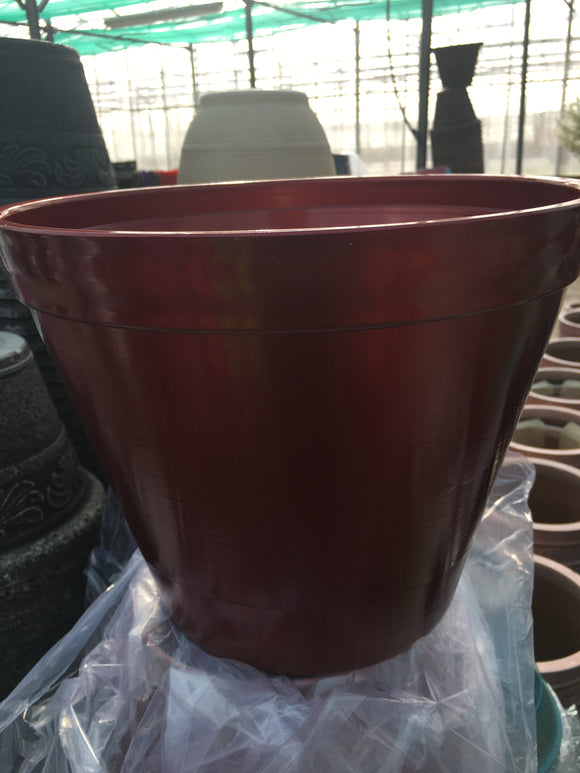 Pot Plastic (Shiny Red)