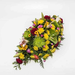 <p>A large arrangement to celebrate ones passing</p>
