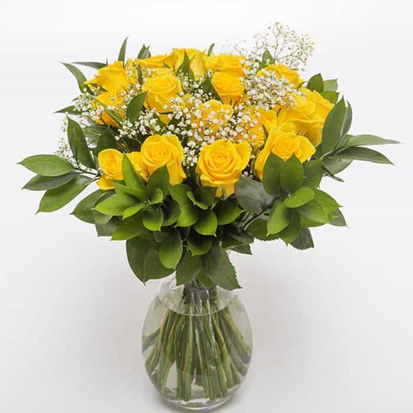 <p>Sending a dozen Roses says it all! Express just how you feel to someone special with one dozen roses! Expertly blended by our expert florists with Gypsophila and tropical foliage.</p>