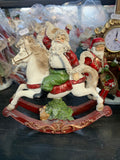 Yuletide Santa on Rocking Horse