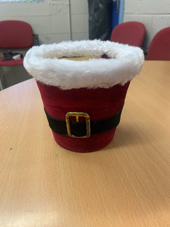 Santa Suit Round Container With Liner
