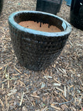 Hammered Egg Planter Black Medium