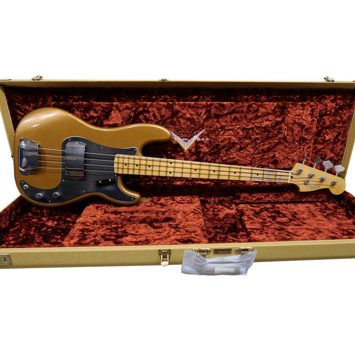 Limited Edition '57 Precision Bass - Faded Aged Fire Mist Gold, Journeyman Relic
