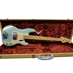 Limited Edition '58 Precision Bass - Aged Sea Foam Green Sparkle, Relic
