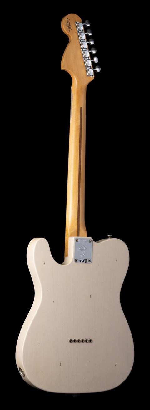 Rear photo of Fender Custom Shop Exclusive 1972 Telecaster Deluxe - Dirty White Blonde, Journeyman Relic