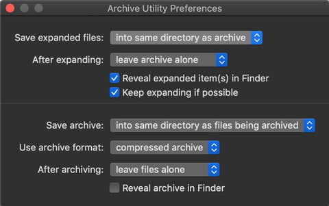 Unzipping files on MacOS
