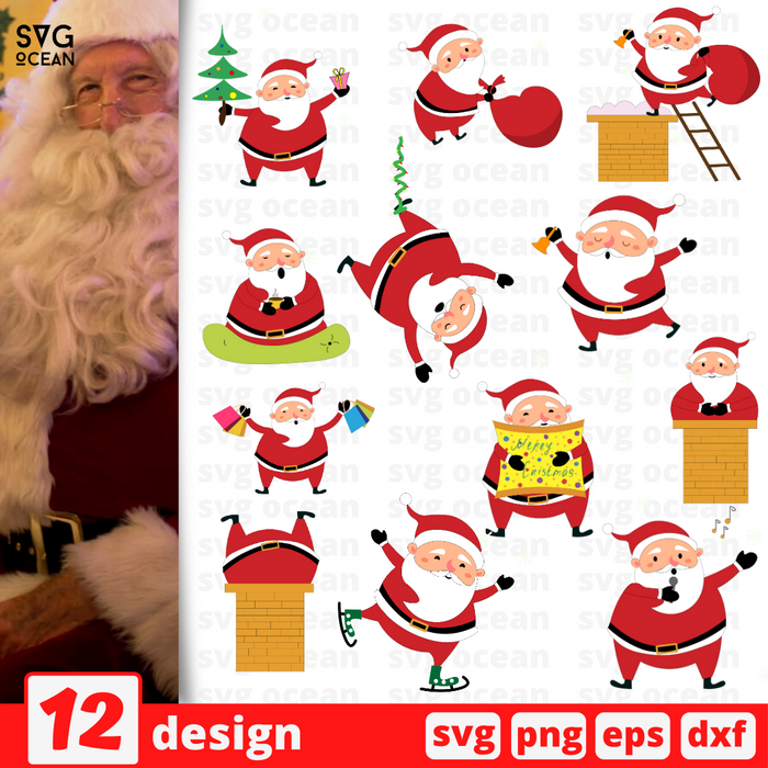 Santa SVG vector bundle - Svg Ocean