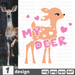 Free My deer quote SVG printable cut file My deer - Svg Ocean
