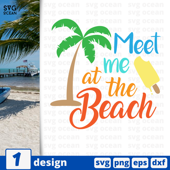 Meet me at the beach SVG vector bundle - Svg Ocean