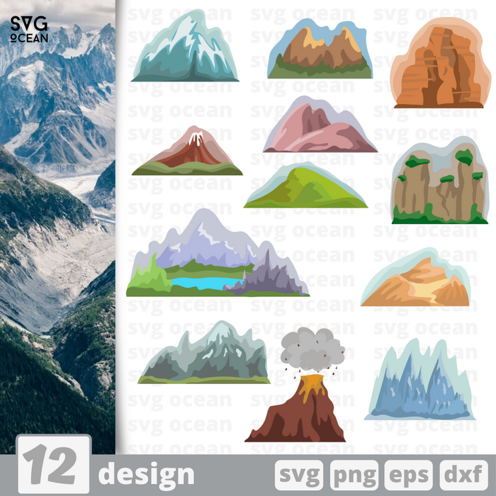 Mountains SVG vector bundle - Svg Ocean
