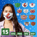 Christmas face mask patterns SVG vector bundle - Svg Ocean