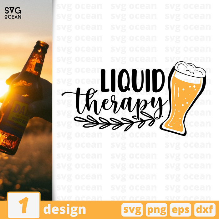 Liquid therapy SVG vector bundle - Svg Ocean