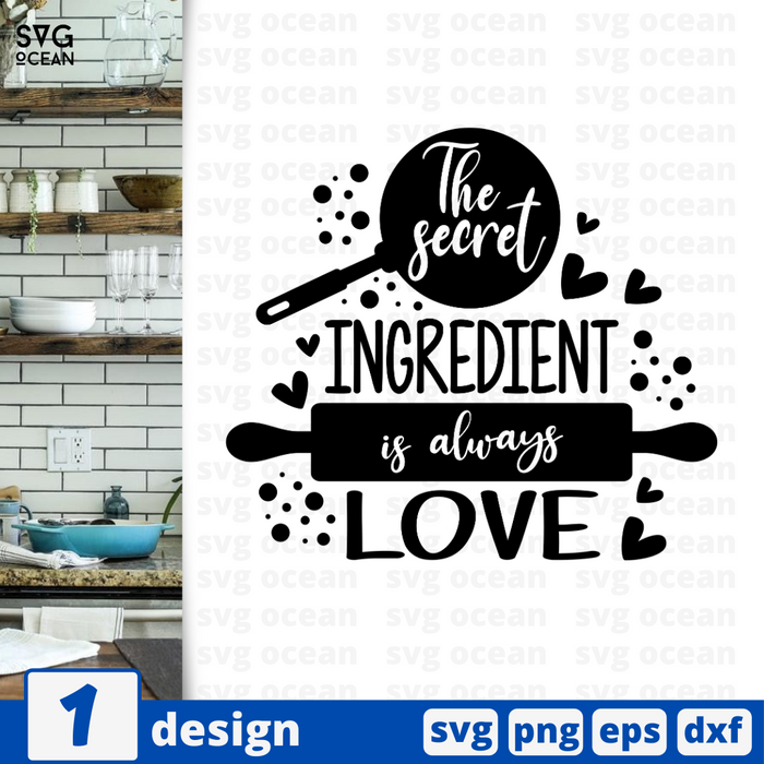 This kitchen is seasoned with love SVG vector bundle - Svg Ocean