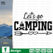 Let's go camping SVG vector bundle - Svg Ocean