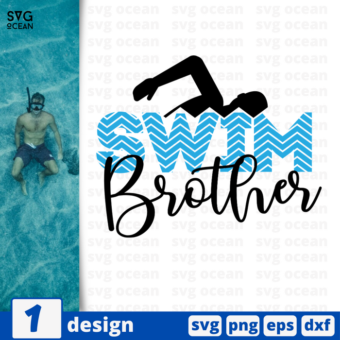 Swim brother SVG vector bundle - Svg Ocean