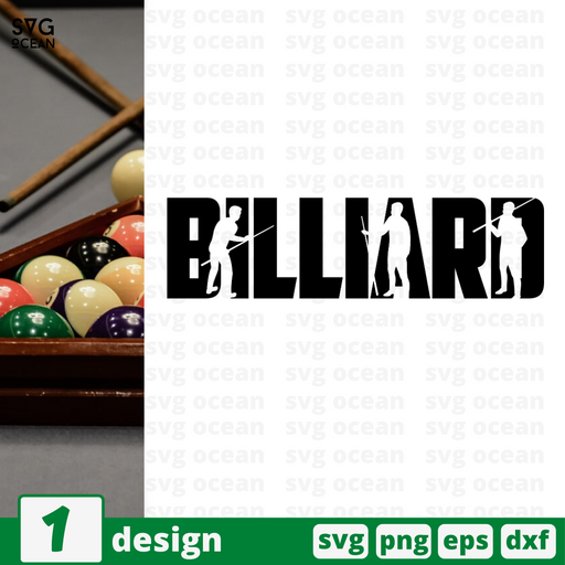 Billiard  SVG vector bundle - Svg Ocean