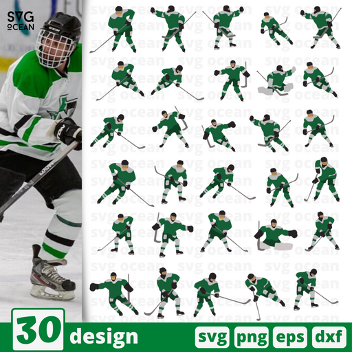 Hockey players SVG for cricut - Svg Ocean