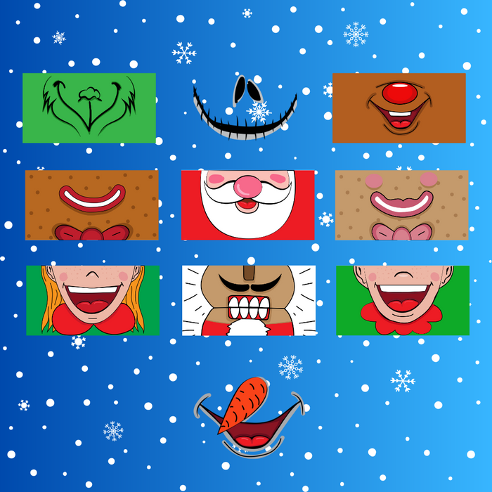 Christmas face mask SVG Bundle