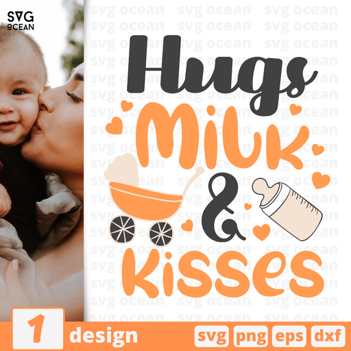 Hugs Milk & Kisses SVG vector bundle - Svg Ocean