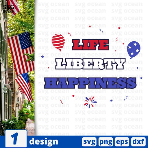 Life Liberty Happiness SVG vector bundle - Svg Ocean