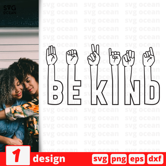 Be kind SVG vector bundle - Svg Ocean