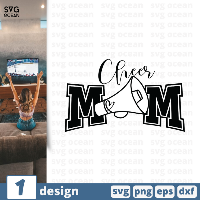 Free Cheer quote SVG printable cut file Cheer mom - Svg Ocean