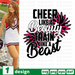 Cheer like a Beauty Train like a Beast SVG vector bundle - Svg Ocean