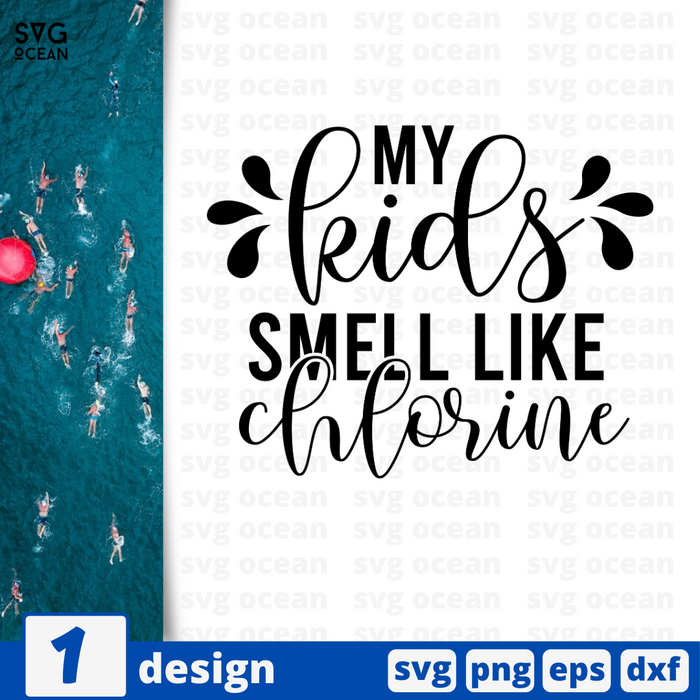 My kids smell like chlorine SVG vector bundle - Svg Ocean