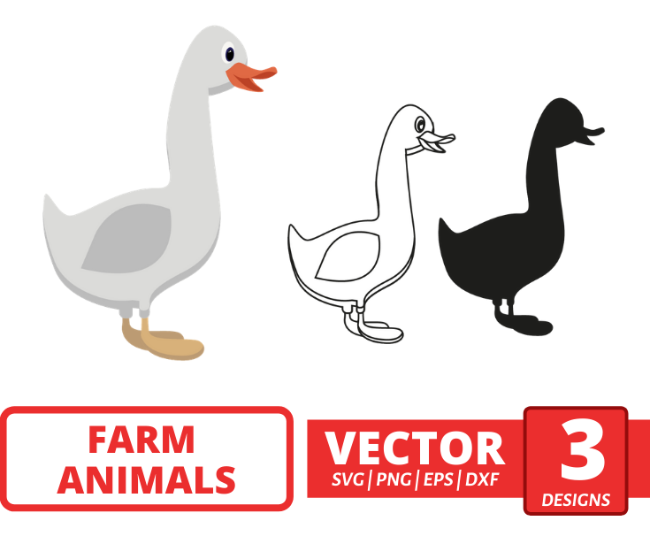 White Duck SVG vector bundle - Svg Ocean