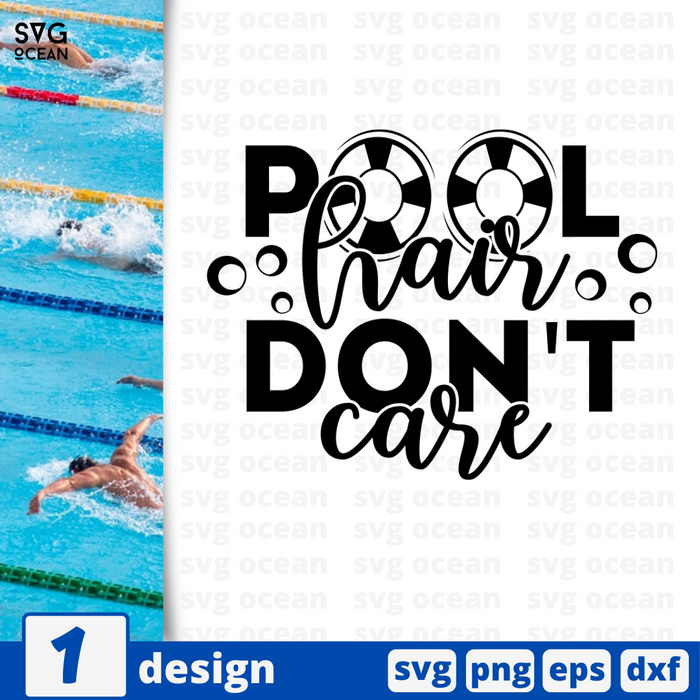 Pool hair don't care SVG vector bundle - Svg Ocean