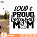 Loud and Proud Volleyball mom SVG vector bundle - Svg Ocean