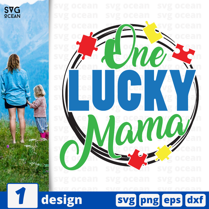 One lucky mama SVG vector bundle - Svg Ocean