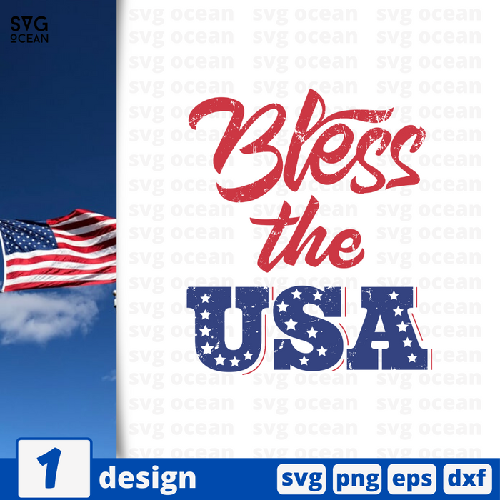 Bless the USA SVG vector bundle - Svg Ocean