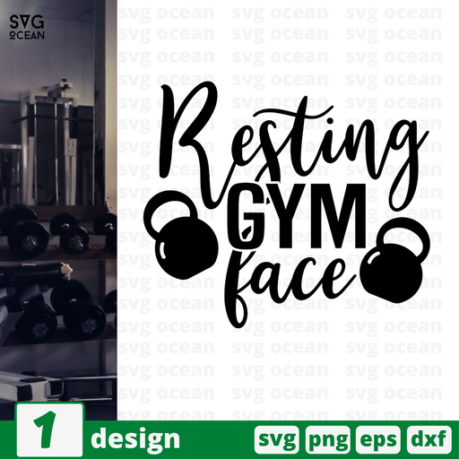 Resting gym face SVG vector bundle - Svg Ocean
