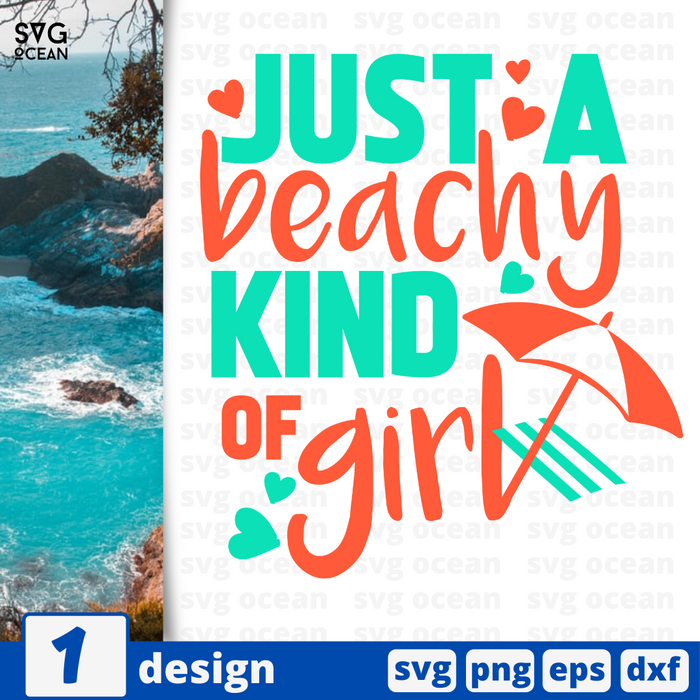 Just a beachy kind of girl SVG vector bundle - Svg Ocean